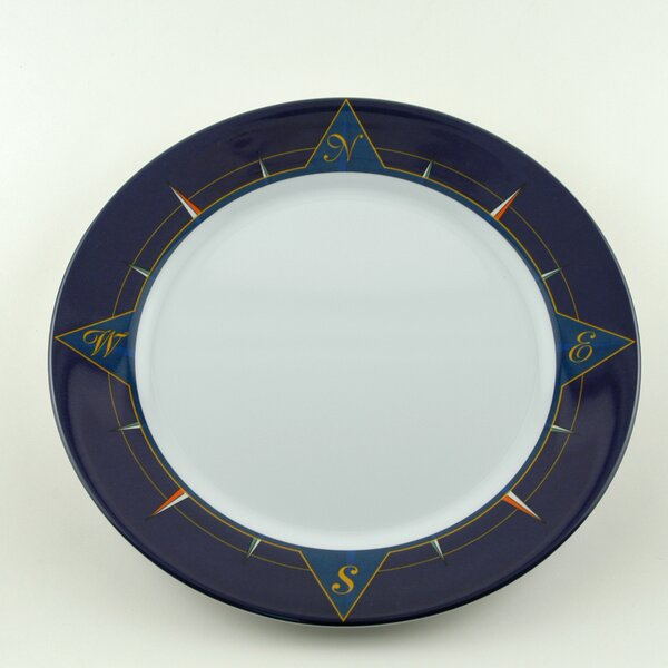 Decorated 10 Melamine Non-skid Dinner Plate (Set of 6) by Galleyware Company