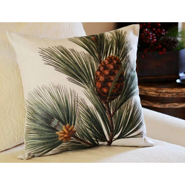 Pine Bough Pillow Cover by Golden Hill Studio