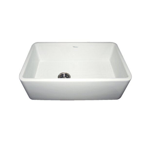 Duet 30 L x 18 W Single Bowl Farmhouse Kitchen Sink by Whitehaus Collection
