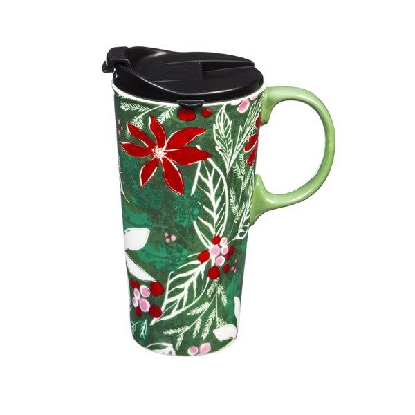 Hailey Holly Pattern Travel Mug by The Holiday Aisle