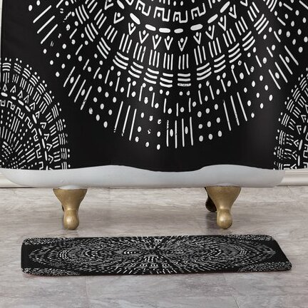 Round and Round Bath Mat by East Urban Home