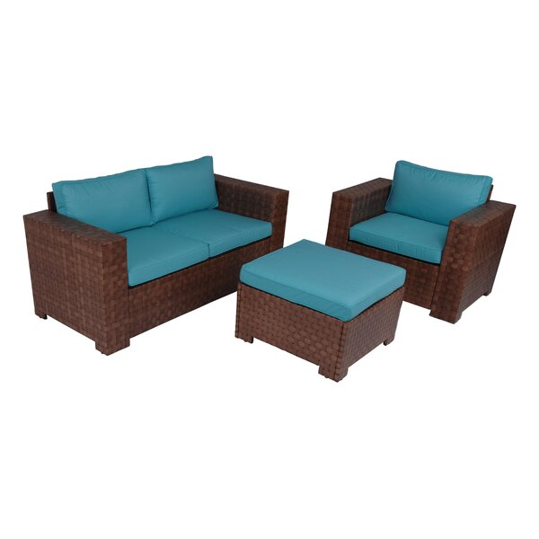 Pultneyville Outdoor 3 Piece Sofa Seating Group with Cushions by Latitude Run