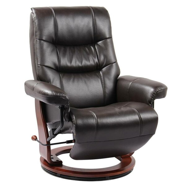 Henke Leather Manual Swivel Recliner by Red Barrel Studio