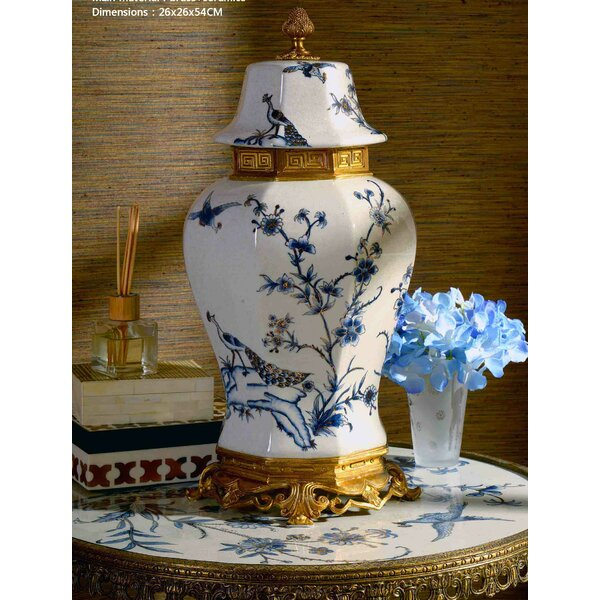 Lidded Porcelain Table Vase By Westmen Lights by Westmen Lights Best #1
