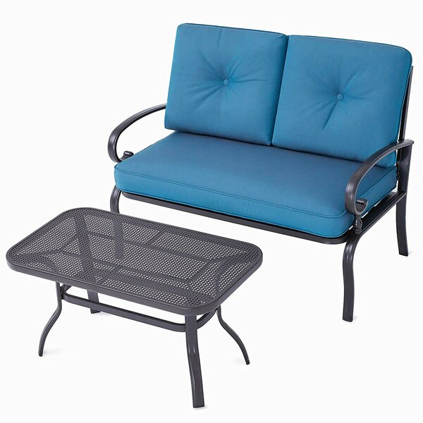 Park Row 2 Piece Seating Group with Cushions by Highland Dunes