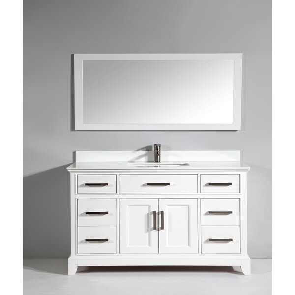 Junie Stone 60 Single Bathroom Vanity with Mirror by Gracie Oaks