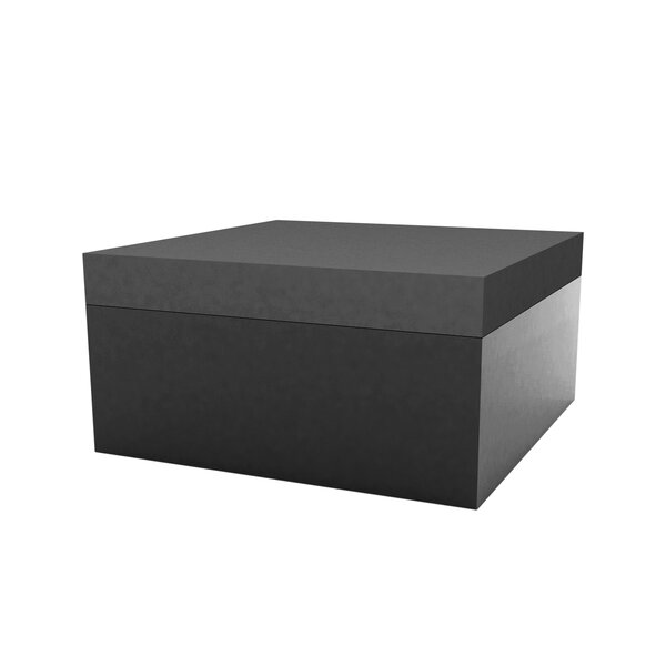 Jut Lacquered Outdoor Ottoman with Cushion