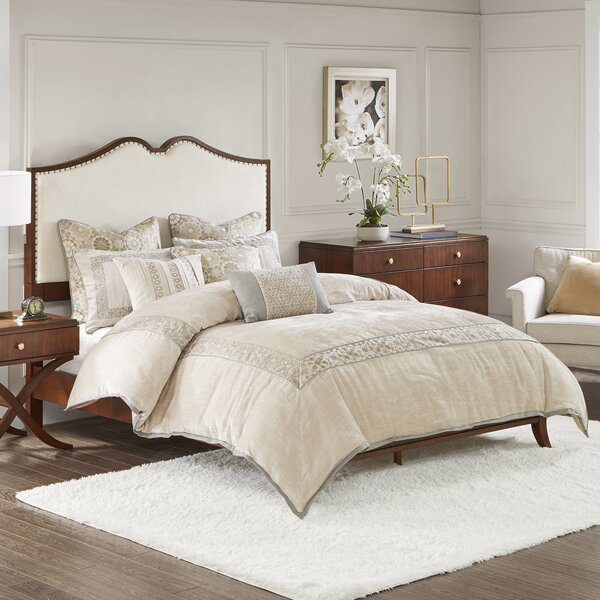 Eleanor Queen Upholstered Panel Bed by Madison Park Signature