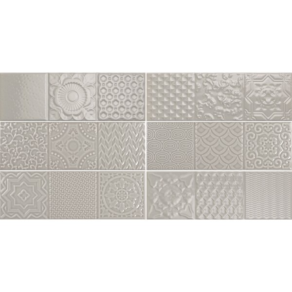 Countryside Deco 4 x12 Ceramic Subway Tile in Dovetail by The Bella Collection