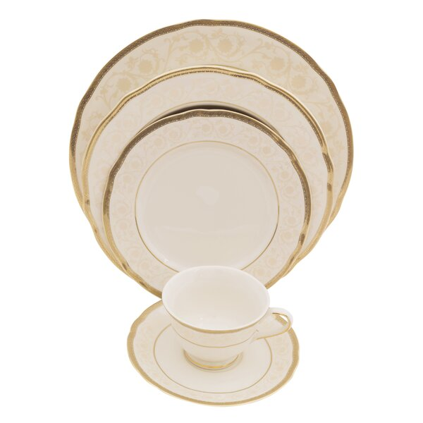 Galaxy 5 Piece Ivory China Place Setting, Service for 1 (Set of 4) by Shinepukur Ceramics USA, Inc.