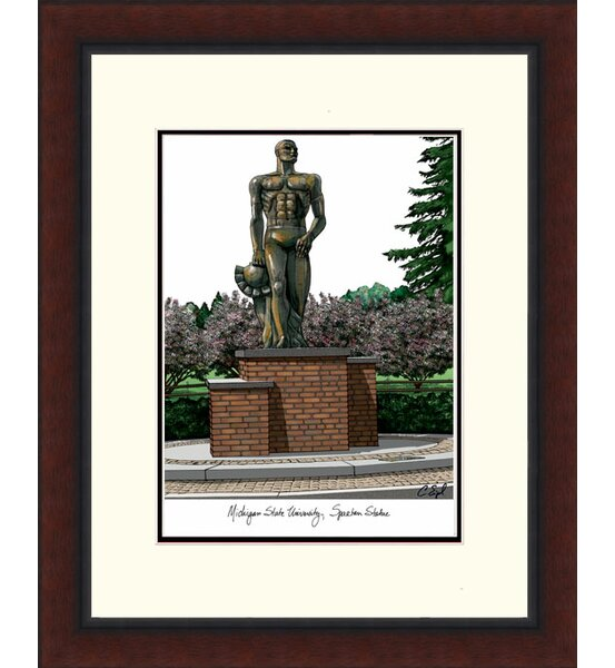 NCAA Michigan State Spartan University Framed Photographic Print by Campus Images