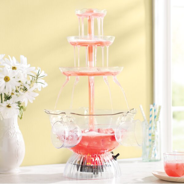 Lighted Party 3 Tier Beverage Fountain By Nostalgia.