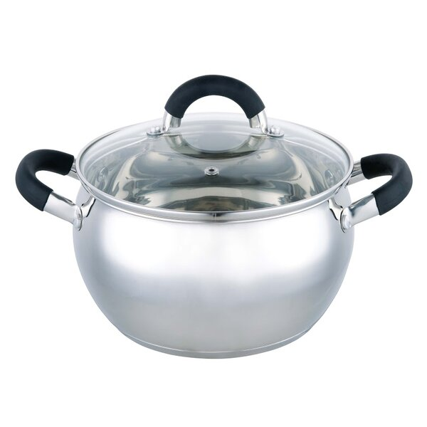 Stainless Steel Soup Pot with Lid by Wee's Beyond
