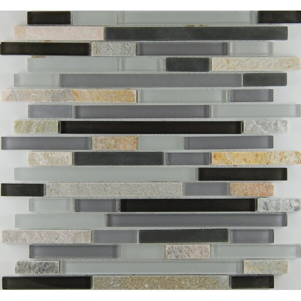 Bar 0.63 x 0.63 Natural Stone Mosaic Tile in Gray by Travis Tile Sales