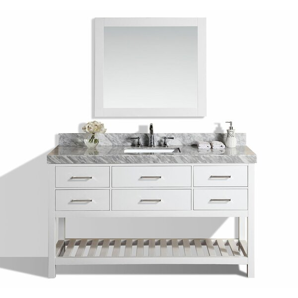Laguna 61 Single Modern Bathroom Vanity with Mirror by Pacific Collection