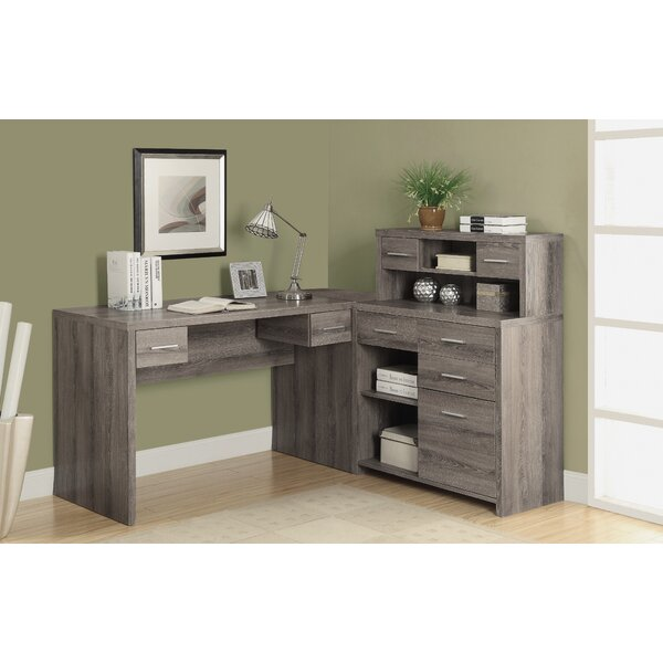 Milford L-Shaped Desk with Hutch by Latitude Run
