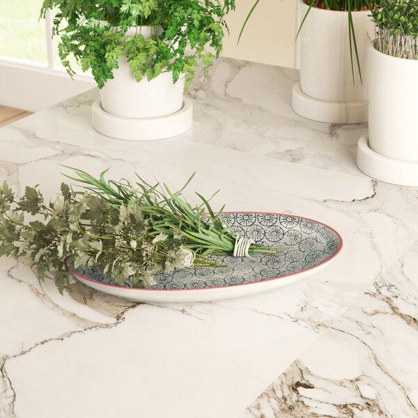 Dorazio Oval Ceramic Platter by Mercury Row