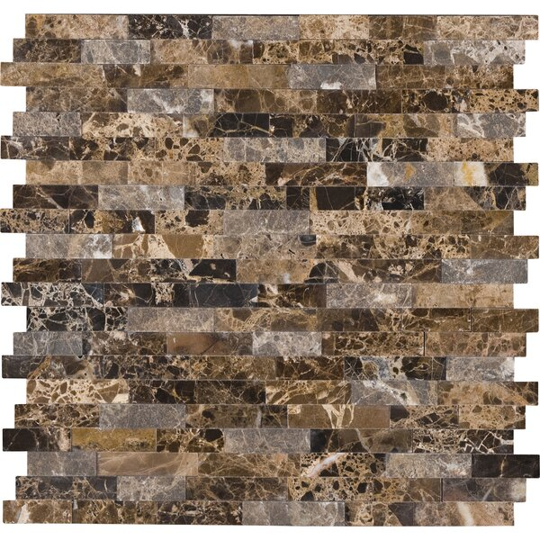 Emperador Marble Mosaic Tile in Brown by MSI
