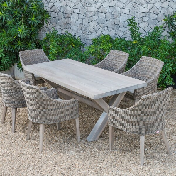 Agora Outdoor 7 Piece Dining Set with Cushions by Brayden Studio