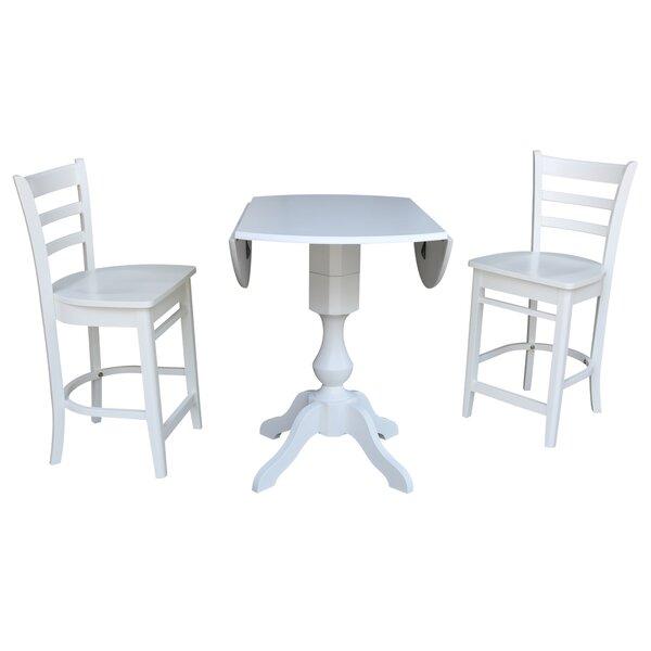 Pattie 3 Piece Pub Table Set by Canora Grey