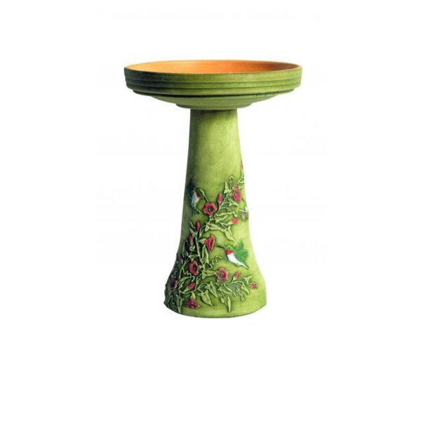 Burley Handpainted Hummingbird Birdbath by Birds Choice