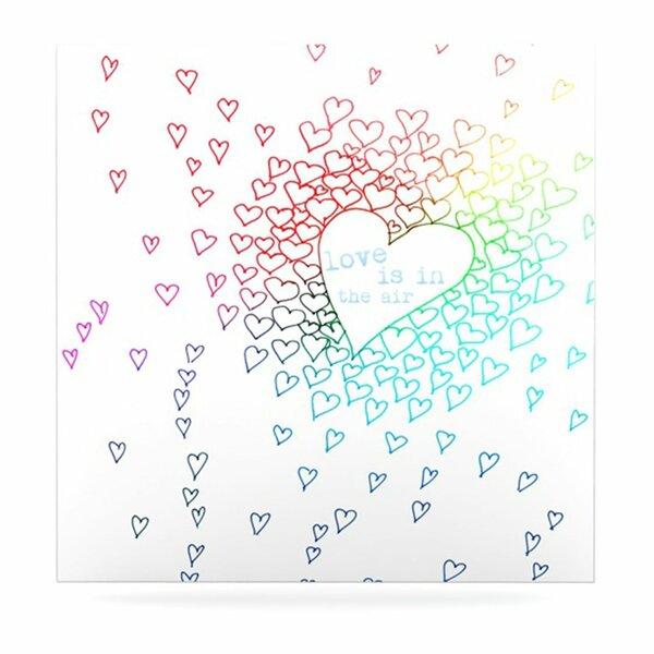 Rainbow Hearts by Monika Strigel Graphic Art Plaque by KESS InHouse