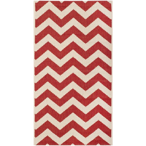 Jefferson Place Red Indoor/Outdoor Area Rug by Wrought Studio