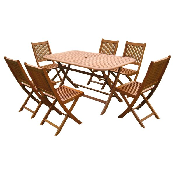 Sabbattus 7 Piece Dining Set by Breakwater Bay