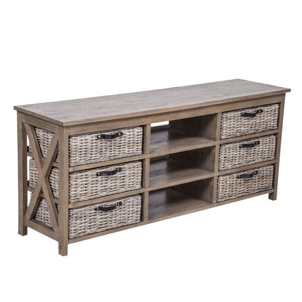 Outdoor Furniture Caskey Solid Wood TV Stand For TVs Up To 65