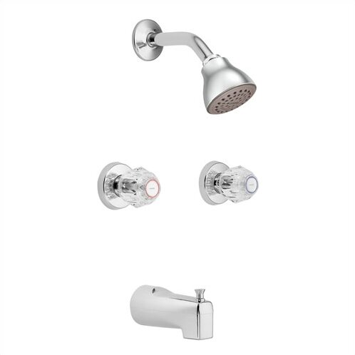 Chateau Thermostatic Tub and Shower Faucet with Knob Handle by Moen