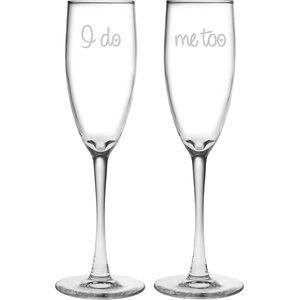 Oscar I Do / Me Too 5.75 oz. Champagne Flute