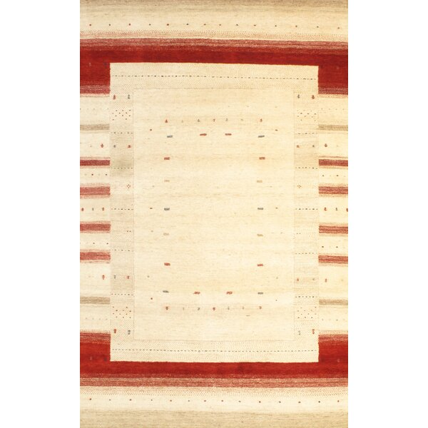 Gabbeh Hand-Knotted Ivory Area Rug by Pasargad NY
