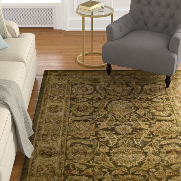 Bassham Hand-Woven Wool Brown Area Rug by Astoria Grand