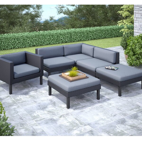 Abert 6 Piece Sectional Set with Cushions by Wrought Studio