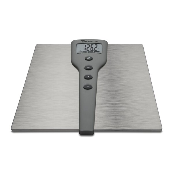 Detecto 5 in 1 Stainless Steel Body Fat and Body Composition Digital Scale by Escali