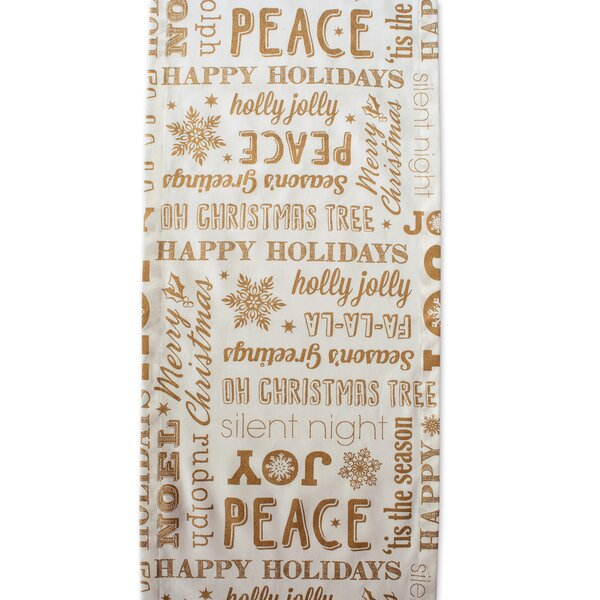 Stella Christmas Collage Table Runner by The Holiday Aisle