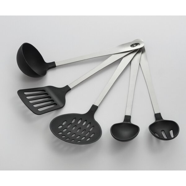 5 Piece Stainless Steel Utensil Set by Cooks on Fire
