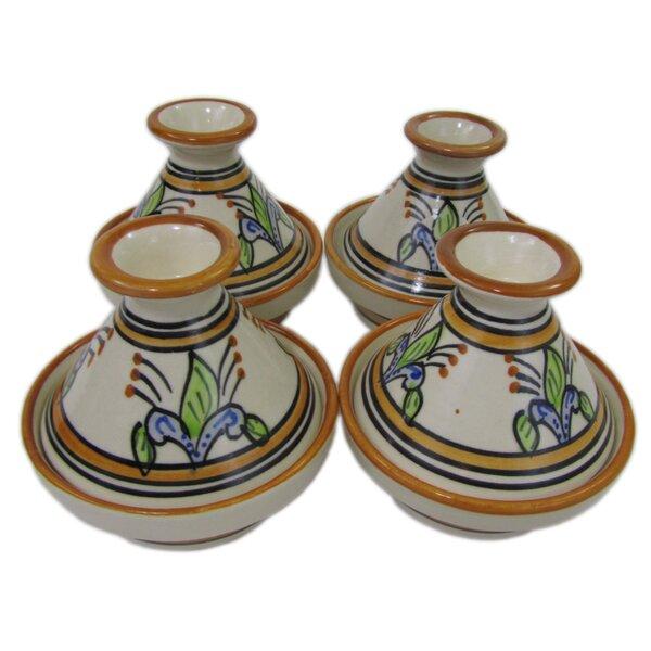 Salvena 0.035 Qt. Stoneware Round Tagine (Set of 4) by Le Souk Ceramique