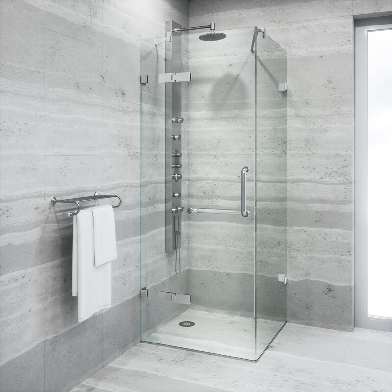 Frameless Shower Enclosure With .375 In.