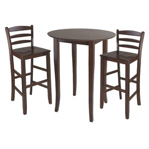 Weldon 3 Piece Pub Table Set by Red Barrel Studio