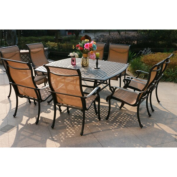 Balderas Aluminum 9 Piece Dining Set by Canora Grey