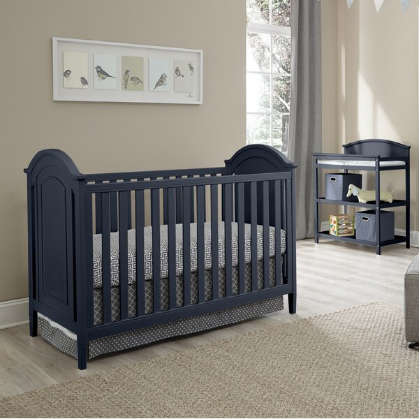 Emile 3-in-1 Convertible 3 Piece Crib Set by Harriet Bee