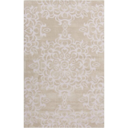 Kaufman Oyster Gray/Rose Mist Area Rug by Rosdorf Park