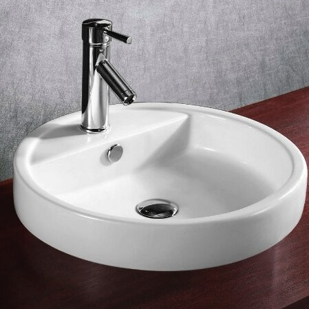Ceramica Ceramic Circular Drop-In Bathroom Sink by Caracalla