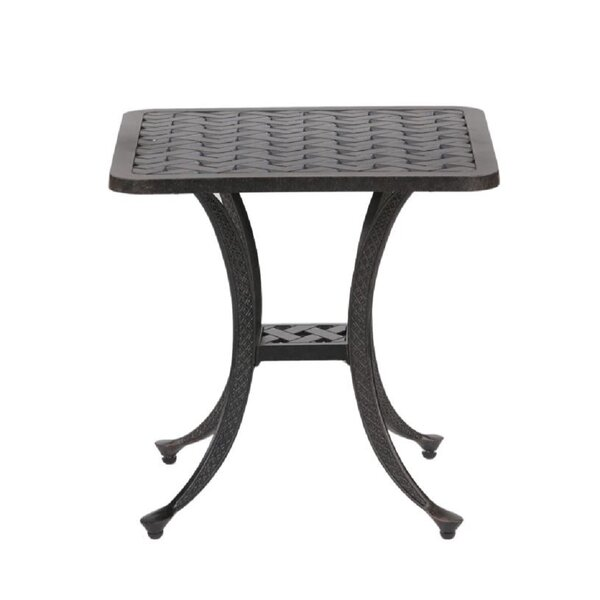 Hawkesbury Aluminum Side Table by Charlton Home