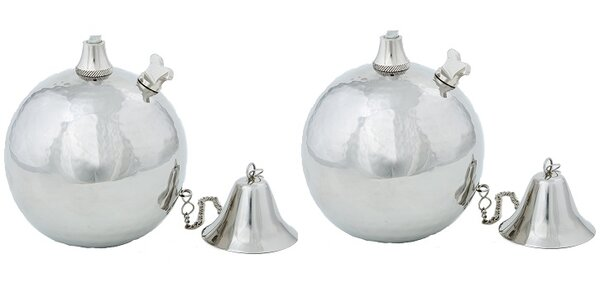 Luna Tabletop torch (Set of 2) by Legends International LLC