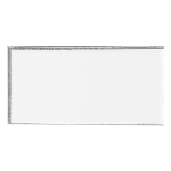 Secret Dimensions 3 x 6 Glass Subway Tile in Frosted White by Abolos