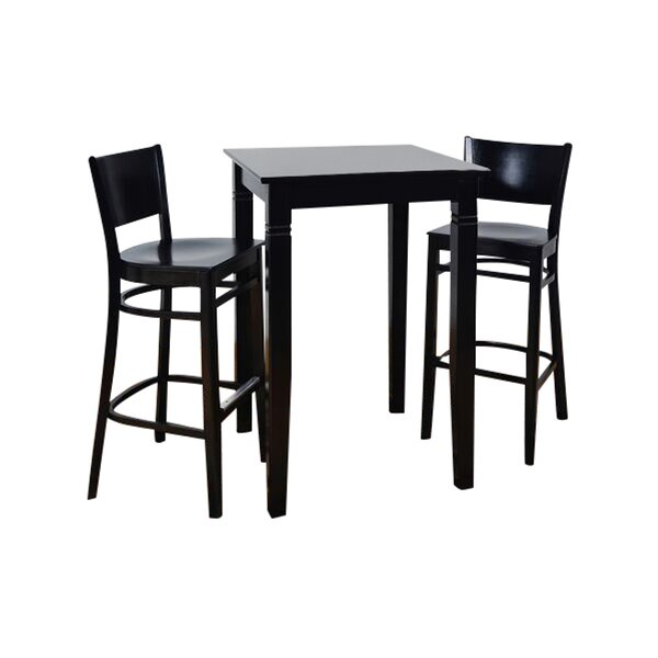 Irons Wood Seat 3 Piece Pub Table Set by Winston Porter
