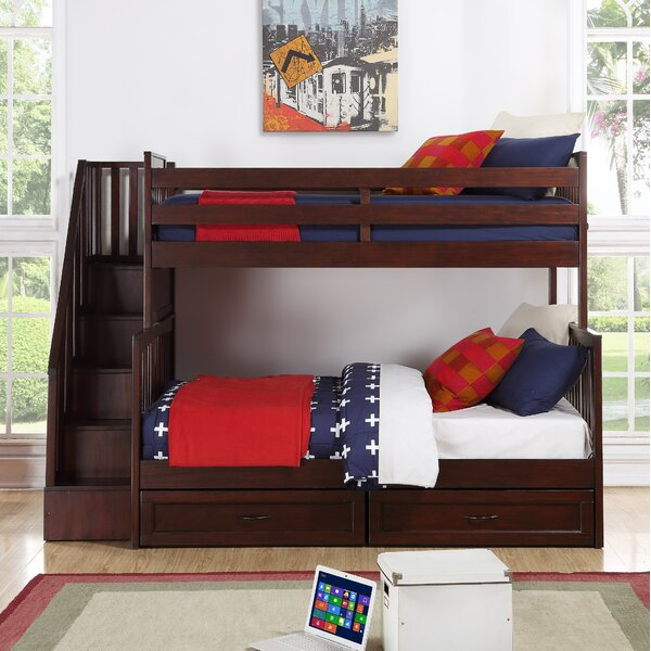 Renken Twin Over Full Standard Bed with Storage Drawers by Harriet Bee