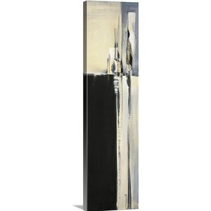 'Black and Graphite' by Terri Burris Painting Print on Wrapped Canvas by Great Big Canvas